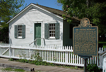 Carl Sandburg's Birthplace in Galesburg, Illinois