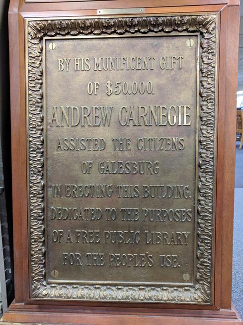 Andrew Carnegie, Philanthropist - Sandburg's Hometown - by Barbara
