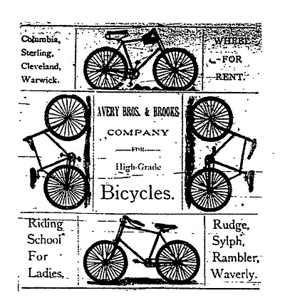 Bicycle Ad - Avery Brothers, Galesburg, IL
