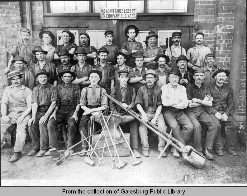 C. B. & Q. blacksmith crew, ca. 1908