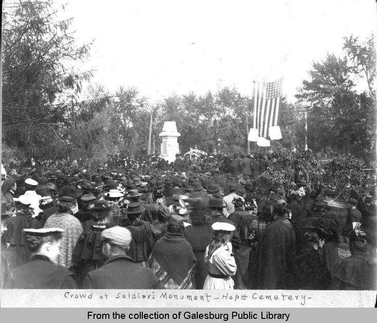 Dedication of the Soldiers' Monument in Hope Cemetery, Galesburg, October 7, 1896.