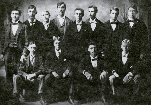 Fred Cook - Standing 2d from the left in photo of Galesburg's Dirty Dozen with Carl Sandburg