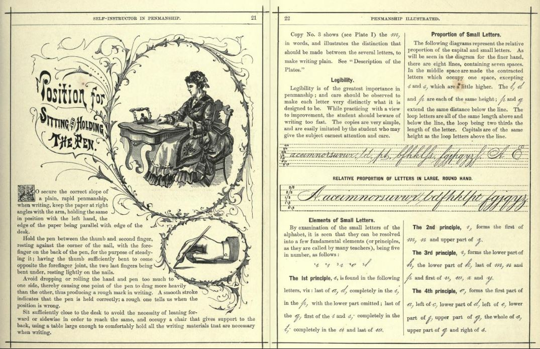 Hill's handwriting guide - 1888