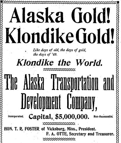 klondike goldrush The discovery of klondike gold in 1896 began a stampede of more than 100,000 prospectors there's still gold here, but today it's the period's captivating.