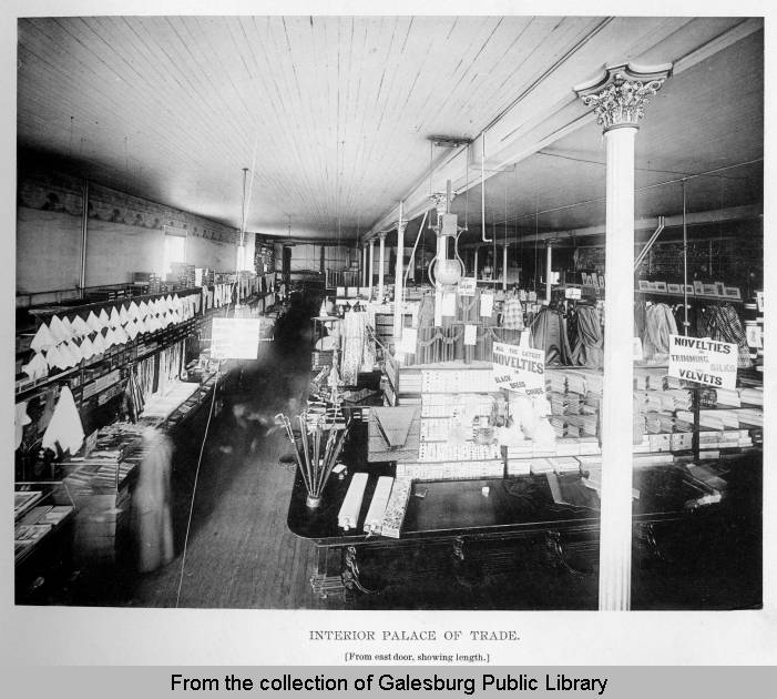 Palace of Trade Dry Goods Store, Galesburg, IL (ca1895)