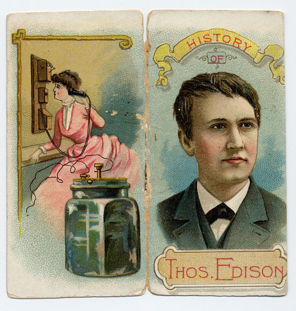 Duke Cigarette Card for Thomas A. Edison